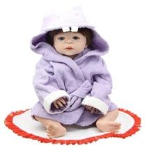 "23"" Full Silicone Vinyl Reborn Babies Doll Realistic Girl Doll Toy Babies Lifelike Newborn Baby Dolls Christmas Birthday Gift"