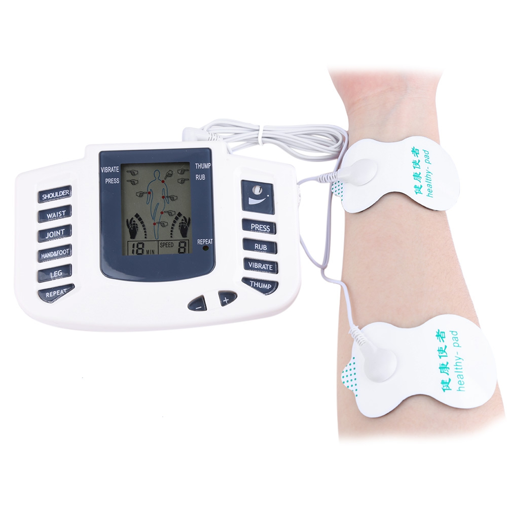 Electronic Massager Body Slimming Pulse Massage Digital Display Muscle Relax Pain Relief Stimulator Acupuncture Therapy Machine dual output ems digital massager 8 pads pulse slimming muscle relax massage electric slim full body massager