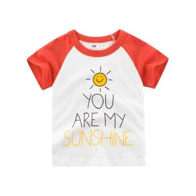Loozykit/Летняя детская футболка для мальчиков футболки с короткими рукавами и принтом короны для маленьких девочек хлопковая детская футболка футболки с круглым вырезом, одежда для мальчиков - Цвет: Style 10
