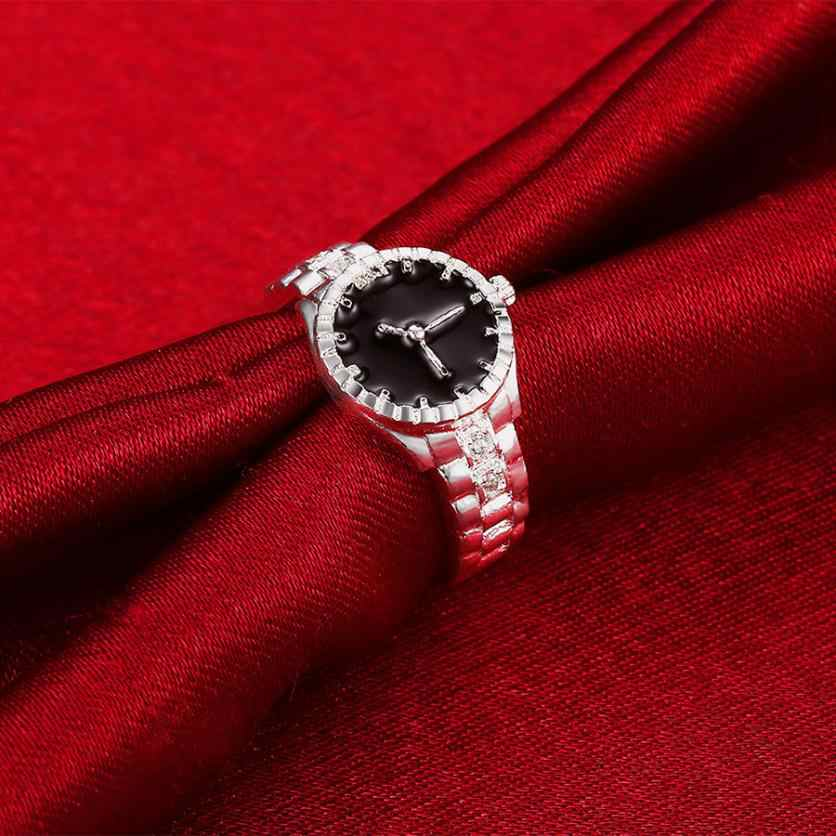 Fashion Wanita Pria Cincin Anillos Dial Jam Analog Kuarsa Kreatif Baja Keren Paduan Perhiasan Perhiasan Ornamen Aneis
