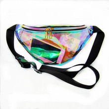 купить New Holographic Fanny Pack Laser Waist Packs Heuptas Hip Bag Women's Waistband Banana Bags Waist bag Unisex bolso cintura по цене 416.19 рублей