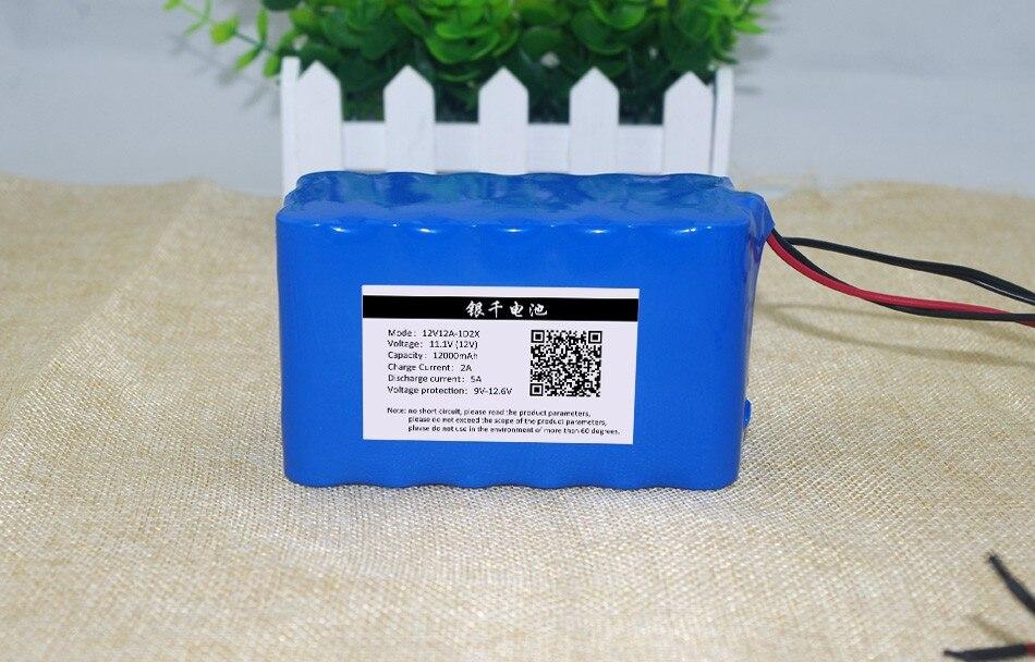12v12ah batterie au Lithium moniteurs 12.6 V 35 W lampe au xénon batterie de chasse kit de matériel médical + chargeur de batterie 12 V 3A