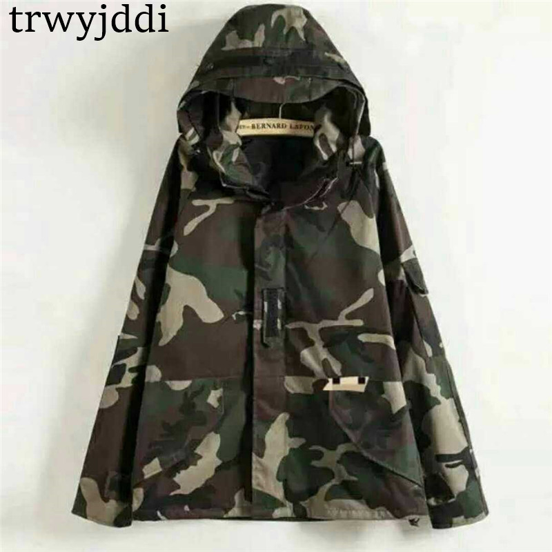 Jacket Mens 2019 Harajuku Skateboard Sporting Camouflage Basic Jackets Men/Women military Clothes Coats Chaqueta Hombre N305