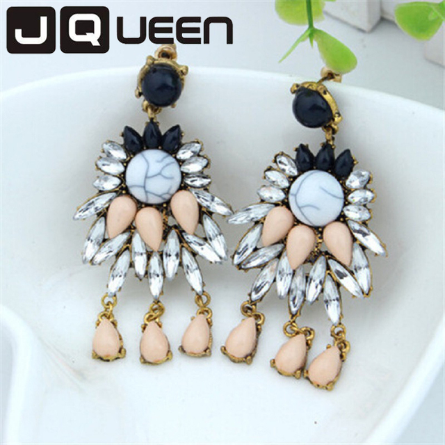 Good Quality NEW 2016 Classic Jewelry Exaggerated Rhinestone Crystal Long Drop Earring For Women Statement Earrings Gifts