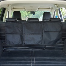 Trunk And Backseat Organizer,Car SUV Trunk Organizer & Car SUV Storage With Large Durable Pockets Versatile & Convenient Storage