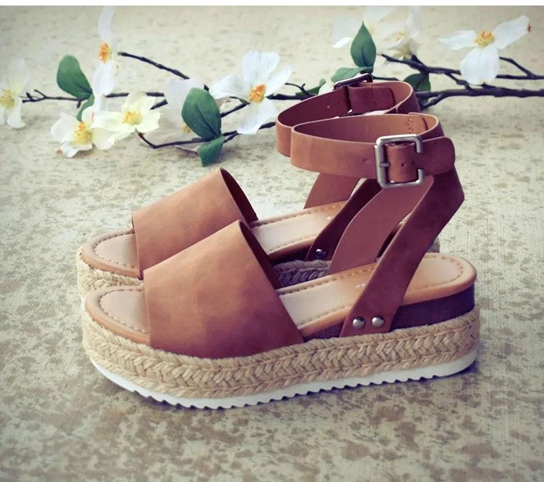Women High Heels Sandals Summer Shoes Flip Flop Chaussures Femme Platform Sandals 43