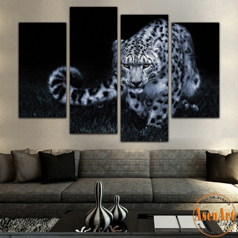 Online get cheap lion wild animal for Cheap black and white prints