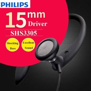 Image 4 - سماعات أذن أصلية من فيليبس SHS3305 نوع سماعات أذن معلقة سماعات رياضية تدعم الهواتف الذكية لهاتف هواوي شياومي