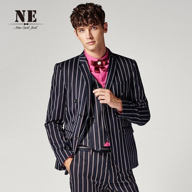 Бренд мужской Clothing2016new прибытие Англия полосы костюмы деловой костюм куртка мужчины формальный свадебный костюм slim fit куртка-пальто