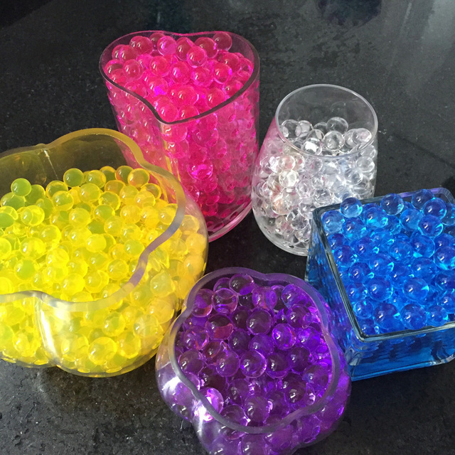1000Packs/Lot, 10G/pack, Water Beads Crystal Soil For Indoor House, 2 Sizes, 13 Colors, Sent By DHL, Factory Price