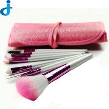 Professional 8PCS Set Makeup Brush Set Foundation Eye Face Shadows Lipsticks Powder Cosmetic Brushes Kit Tools + Bag SC20