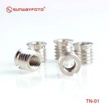 Sunwayfoto TN-1* 5 шт. из нержавеющей стали от 1/4 до 3/8 дюймов адаптер для штатива/втулка для головки штатива быстросъемная пластина