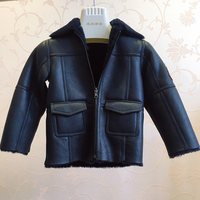 2018 new Children genuine leather coat Kids merino fur coat real fur jacket natual two in one fur coats MWrt01