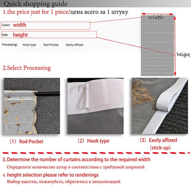 Organza del ricamo del modello di Fiori tenda palloncino tulle tende, tende per la cucina camera da letto soggiorno finestra decorativi