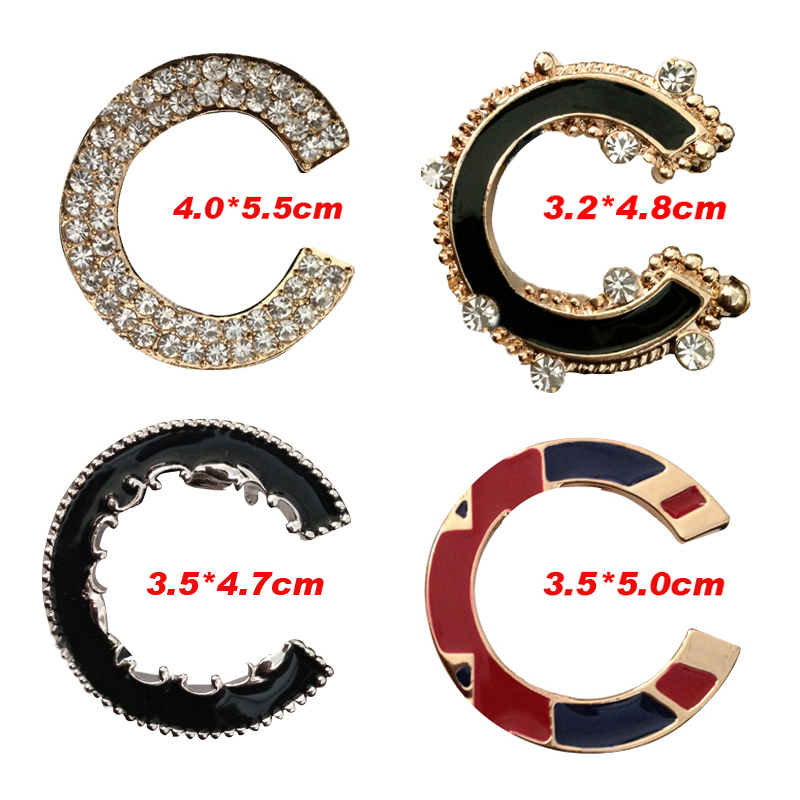 Double Letter Channel CC Brooches For Women Famous Brand Logo Broches Jewelry Fashion Rhinestone Brooch Pins/Bijoux/Boutonniere