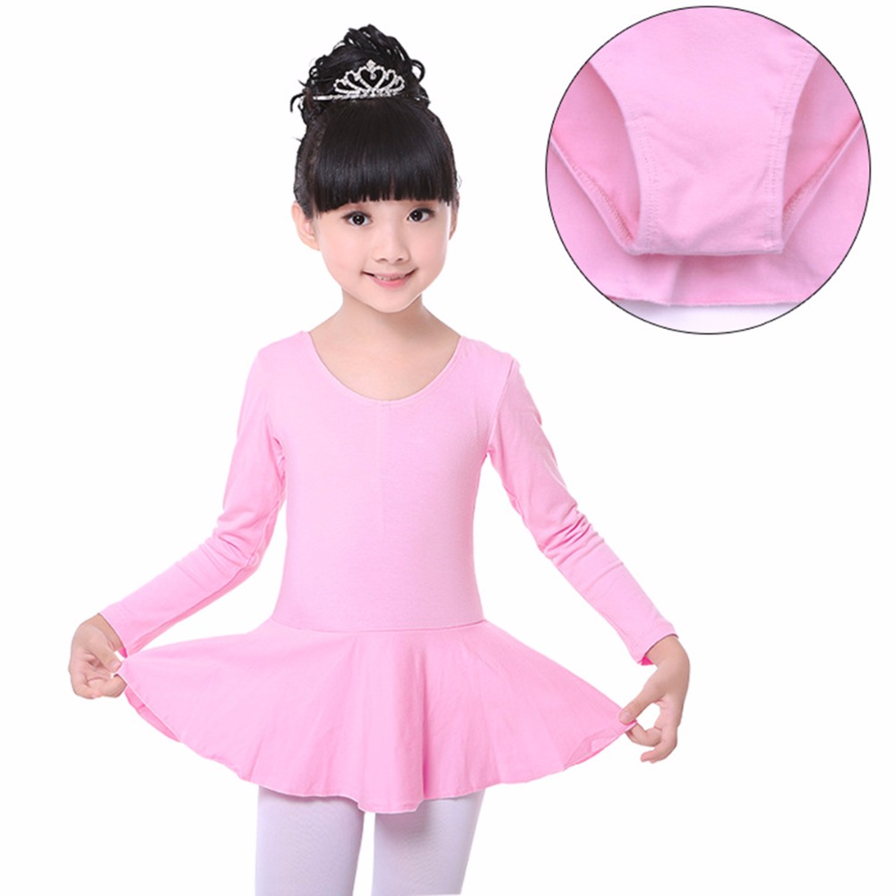 Puseky Long sleeved Spandex Gymnastics Leotard for Girls Ballet Dress Clothing Kids Dance Wear Plus Size kids dresses for girls girl dress free shipping2010 fashion dance dress performance wear leotard 085 hair accessory oversleeps