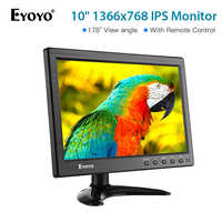 Eyoyo 10 inch IPS CCTV Security Monitor Small Portable Laptop Computer Monitor HDMI LCD Monitor Screen 1366x768 HDMI VGA