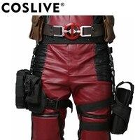 Coslive Halloween Deadpool Waist Belt Tactical Leg Bag With Pockets Holster Gents Cosplay Props Deadpool Waistbelt Costume Prop