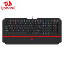 Gaming Keyboard K502 Redragon Kaeyboard RGB LED Backlit Illuminated Keyboard 104 Key Computer Gaming Keyboard SilentWrist Rest