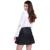 Gcarol mulheres novo camurça e couro falso emendados saia uma linha sexy Mini Saia de Alta Qualidade Plus Size XL Saia Para A Temporada de 4