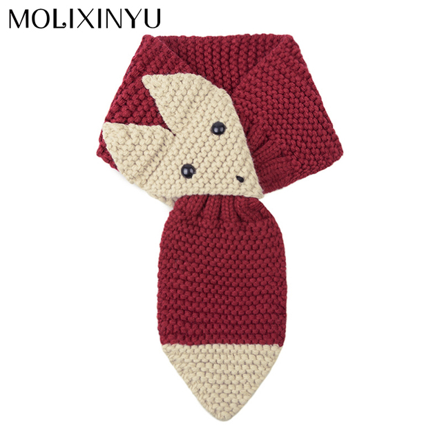 MOLIXINYU 2018 New Cute Children Scarf Knitted Scarves For Girls Winter Scarf Baby Photography Props Kids Scarf For Boys Unisex