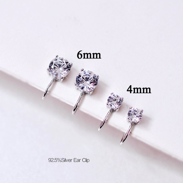 Fashion Jewelry Silver color Crystal Clip Earrings For Women No Ear Hole Unique Design Safe Convenience.jpg 640x640 - Fashion Jewelry Silver-color Crystal Clip Earrings For Women No Ear Hole Unique Design Safe Convenience Earrings Free Shipping