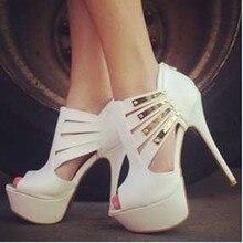 PADEGAO Frauen Sandalen 2017 PU high heels damen sandalen partei hochzeit schuhe frauen whitem sandalen gold pailletten Plus Größe