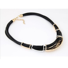 Wax Rope Metal Punk Necklace