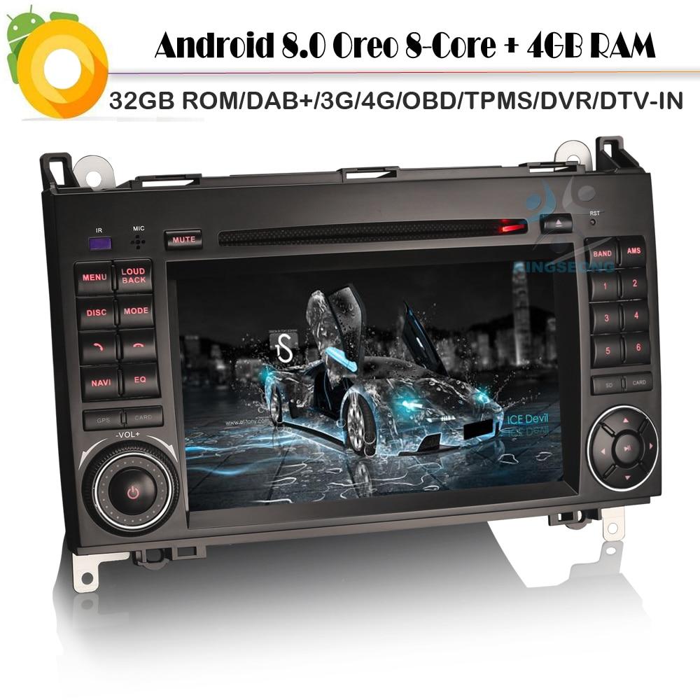 8 Core Android 8.0 DAB+ Car GPS Navigation FOR Mercedes Benz A/B Class Viano Vito Sprinter WiFi 4G DVD BT USB SD DVR DTV IN Navi