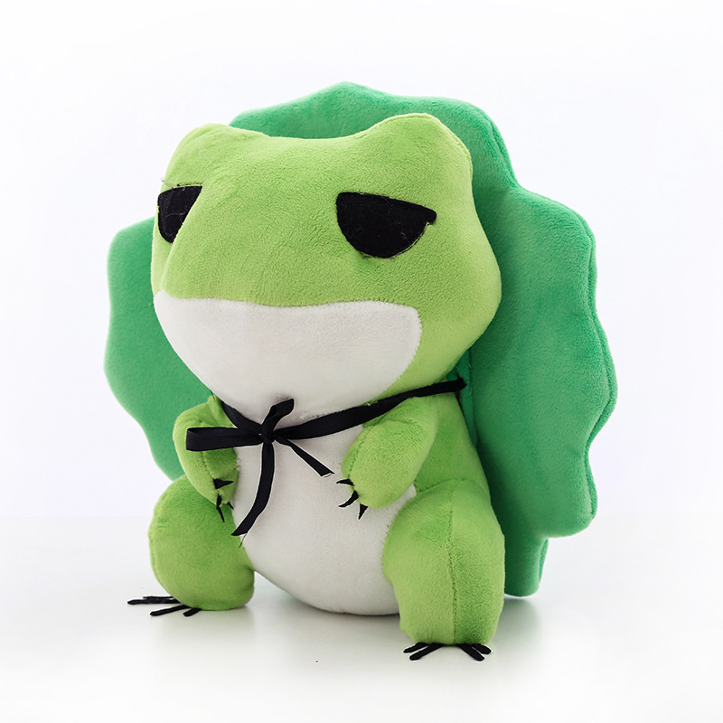 25CM Cute Travel Frog Doll Frogs With Hat Stuffed Plush Toy Cartoon Anime Cute plush doll Gift For Childrens Toy