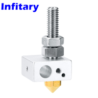 High Quality 5pcs 3d Printer Accessories Aluminum Block Throat Tube Nozzle Assembled Done For 3D Printer