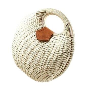 5 pcs of Snail's Nest Tote Handbag Summer Beach Bags Woman Straw Bags Women's Handbag Rattan Bag