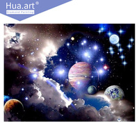 Diamond Painting Diamond Embroidery Full Landscape Round Universe Sky Planet Galaxy Home Decoration Diamond Mosaic