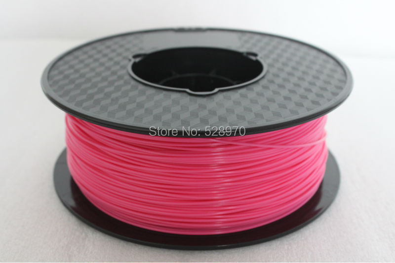 Pink color 3d printer filament 1.75mm 1KG pla 3d printing plastic Rubber Consumables Material for RepRap/kossel 3D print pen new 3d printer printing filament abs 1 75mm 1kg for print reprap color gold yellow