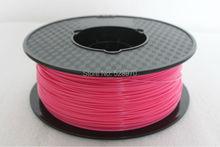 Pink color 3d printer filament 1.75mm 1KG pla 3d printing plastic Rubber Consumables Material for RepRap/kossel 3D print pen