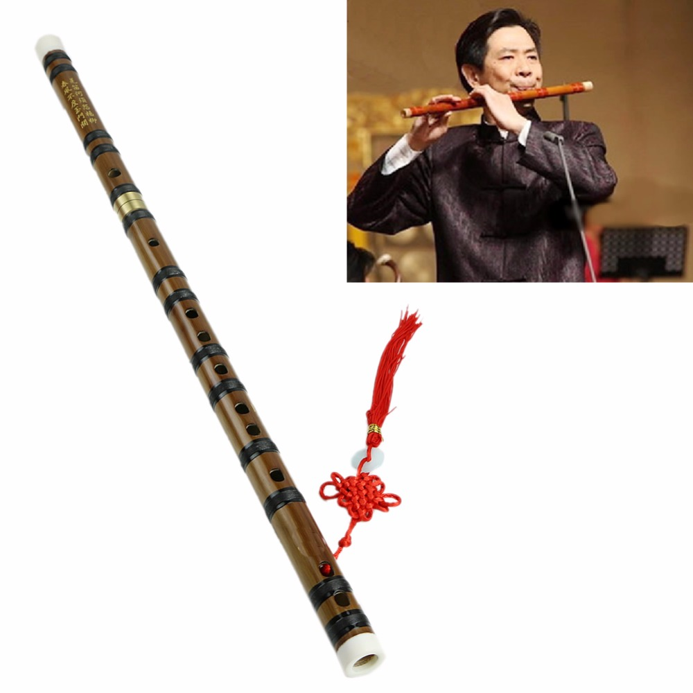 New Chinese Traditional Musical Instrument Handmade Bamboo Flute in D Key ...