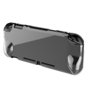 Image 4 - For Nintendo Switch Lite Crystal PC Transparent Case For nintend switch mini Protection Cover shell with Tempered glass