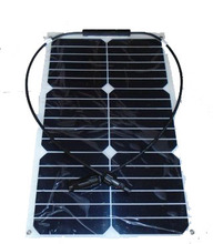2pcs 18w 18V flexible solar panel mono solar module solar battery with MC4 connector