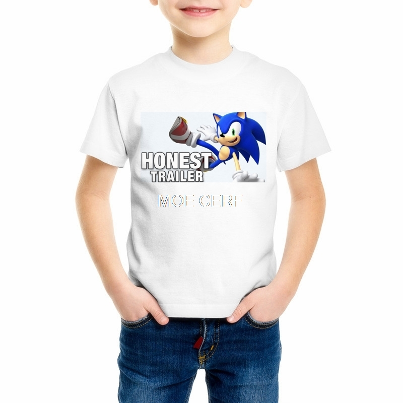 Sonic The Hedgehog Boys/Girls/Babys/Kids T-shirt Print Fashion Funny Video Game T Shirt Skate Brand Design Top Z15-6