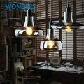 Luz pingente de vidro pingente lâmpadas lâmpadas 110 V / 220 V led pingente com edison lâmpada