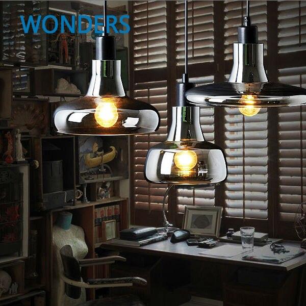 Suspension vintage en verre couleur argent lampes suspendues avec ampoules 110 V/220 V pendentif LED avec ampoule edisonSuspension vintage en verre couleur argent lampes suspendues avec ampoules 110 V/220 V pendentif LED avec ampoule edison