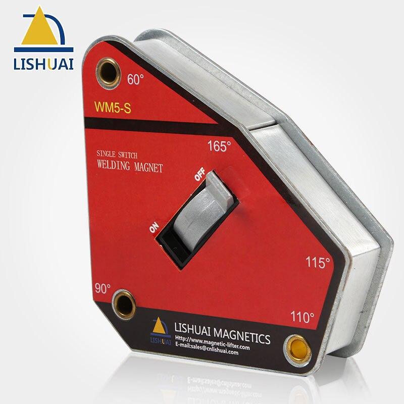 LISHUAI Singolo Interruttore Multi-angolo Magnetico Supporto della Saldatura/Forte On/Off Magnete Al Neodimio di Saldatura Morsetto WM5-S