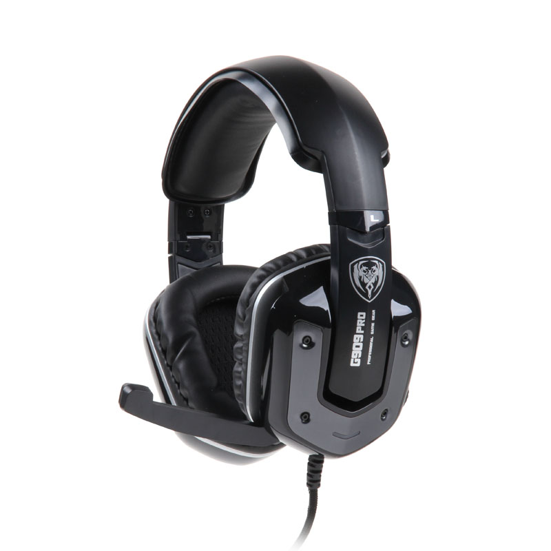 F18577 Somic G909PRO Gaming Headphones Noise Canceling Over-ear Stereo Bass Mic Headset with Vibration Function for Computer