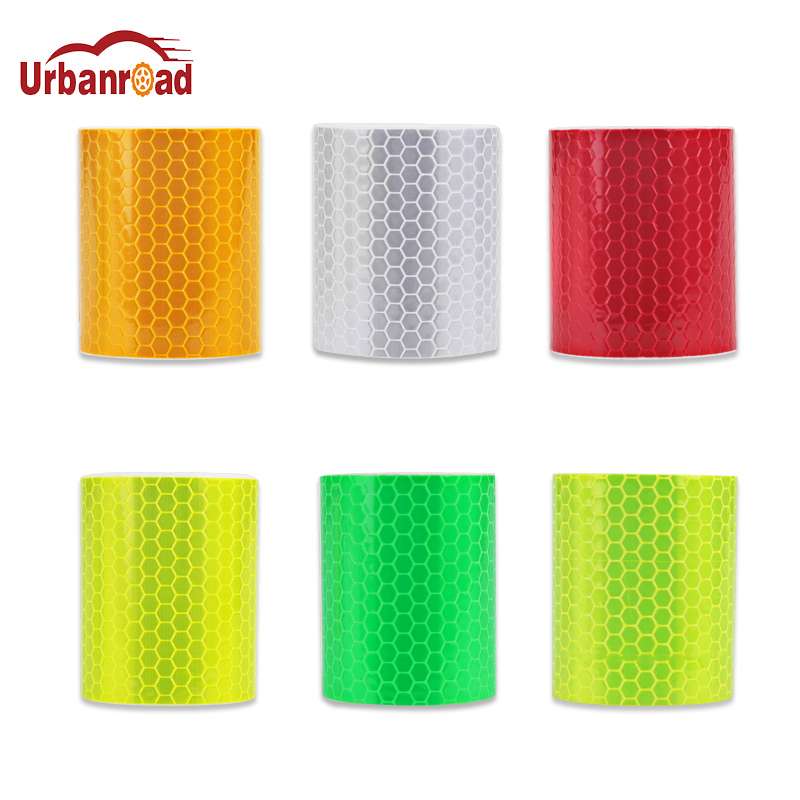 Urbanroad 5cm*300cm Car Reflective Tape Decoration Stickers Car Automobiles Warning Safety Tape Film Auto Reflector Sticker 5sheets pack 10cm x 5cm holographic adhesive film fly tying laser rainbow materials sticker film flash tape for fly lure fishing