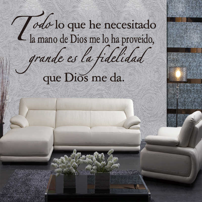 Vinyl Wall Sticker Spanish Quote Music Wall Decal Sticker Wall Artist Residence Decoration Wallpaper House Decoration Dd0169