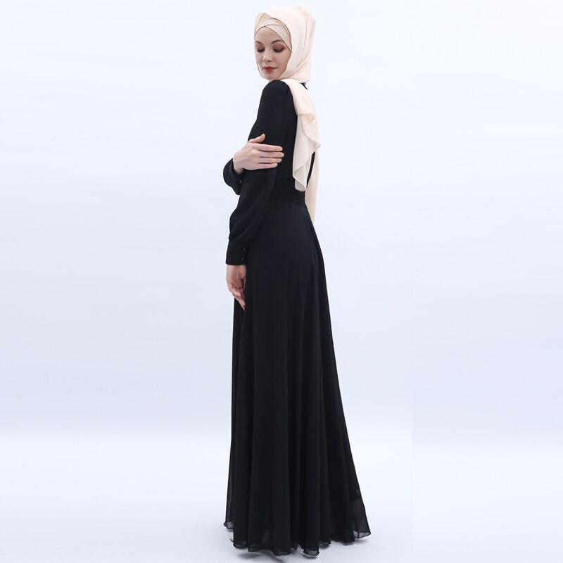 Chiffon Abaya Dubai Muslim Hijab Dress Kaftan Abayas For Women Caftan Islamic Clothing Jilbab Femme Musulman Turkish Dresses