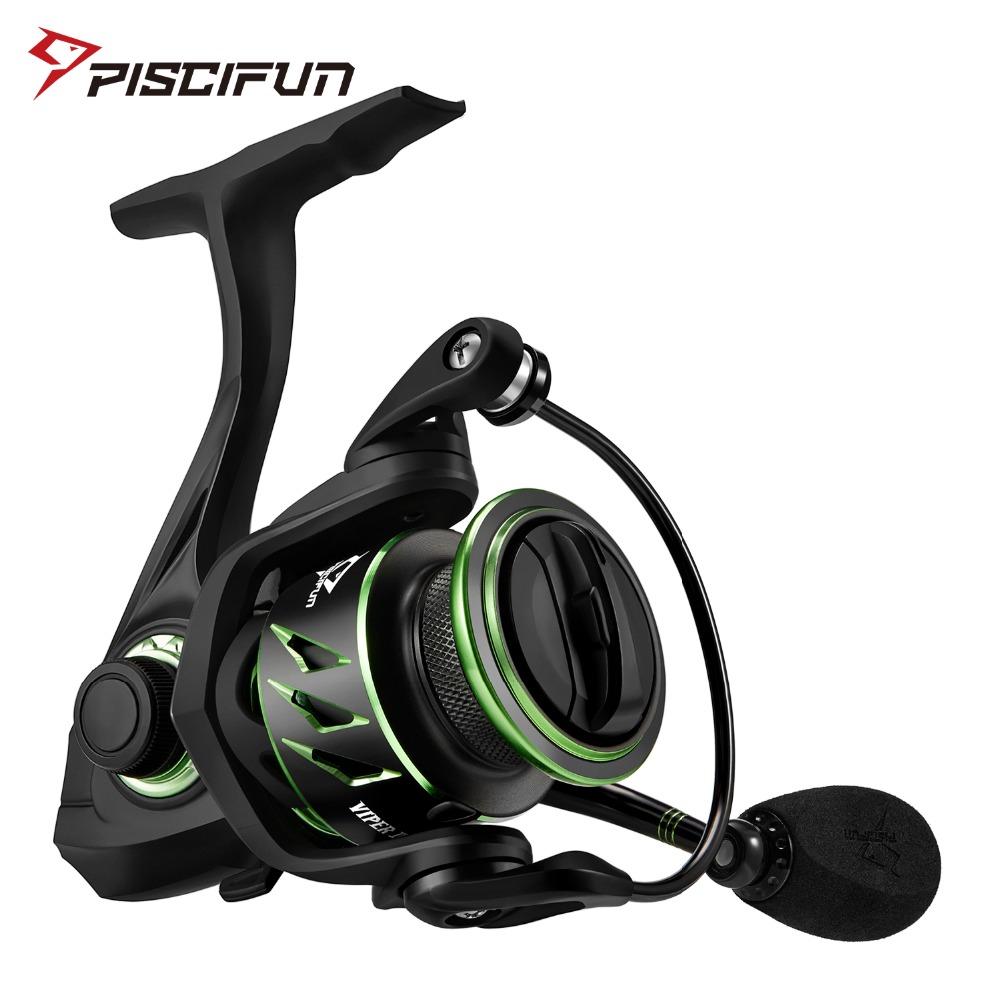 Piscifun Viper II Shallow Spool Spinning Reel 6.2:1 Gear Ratio 11 Bearings Up to 8KG Max Drag 1000 2000 Lightweight Fishing Reel