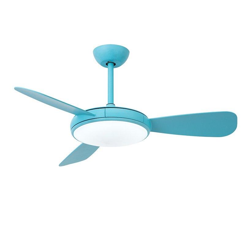Современный простой подвесной светильник с вентиляторами синий белый вентилятор листьев Ресторан гостиная спальня на потолке деко ABS вент...