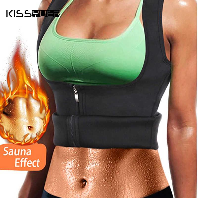 0a028353181de Kissyuer Drop Shipping Thermo Sweat Hot Neoprene Body Shaper Slimming Waist  Trainer Cincher Vest Women Shapers