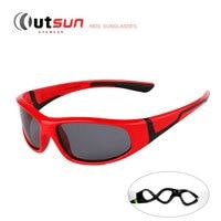 Super Cool Black Frame UV400 Protection Polaroid Lenses Children Sun Glasses Kids Polarized Sunglasses Brand Designer